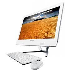 ordinateur de bureau lenovo pc de bureau lenovo all in one c360 blanc
