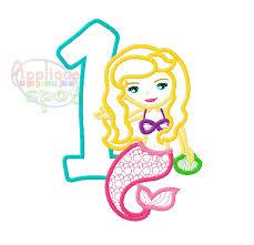 Mermaid 1st Birthday – Applique Spot