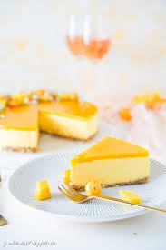 fruchtiger no bake mango cheesecake
