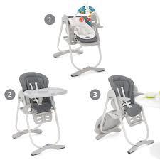 chaise haute polly magic grey de chicco chaises hautes