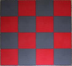 grey check pvc interlock tiles garage flooring rumpus