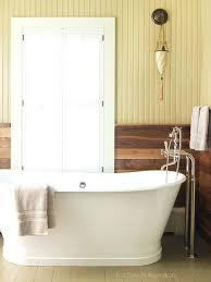 White Bathroom Tan Panelling Beadboard For Ceiling Interior Barn