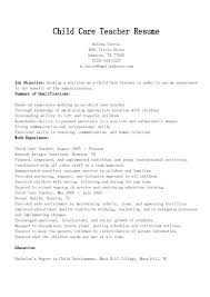 Child Care Director Sample Resume For Magnificent Car