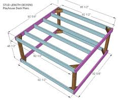 Floor Joist Spans For Decks by Ana White Playhouse Deck Options Diy Projects