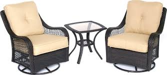 orleans 3 outdoor bistro set with swivel glider chairs