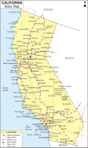 About Map California Showing The Capital State Boundary Roads Rail Networkrivers Interstate Highways Major Cities And Towns
