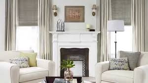 Splendiferous Family Room Decor With Chic White Jc Penneys Drapes Window Curtain Matched