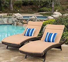 Amazon Patio Lounge Cushions by Amazon Com Christopher Knight Home Sienna Colored Lounge Cushion