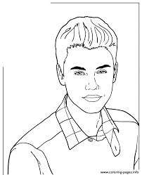 Cute Music Icon Justin Bieber Coloring Pages Print Download