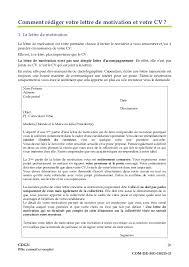 Lettre De Motivation Promotion Interne Lettres Modeles En Modele Cv Adjoint Administratif Fonction Publique Travail