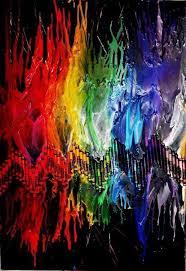 Fantastic Rainbow Melted Crayon Art Ideas
