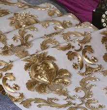 웃 유europäischen stil damaskus 3d geprägte tapete