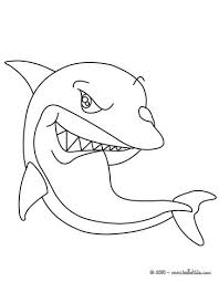 Cute Shark Coloring Page Color Online Print