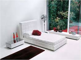 Bedroom Designs Black White With Red Accent