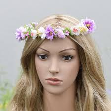Flower Crown Bridal Headpiece Natural Wedding Hair Wreath Rustic Shower Greek Floral