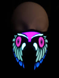 Halloween Club Purge Mask by Owl Sound Activated Led Rave Mask For Dj Edc Ultra Music