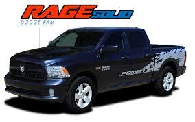 100 Ram Trucks 2013 RAM RAGE SOLID 20092018 Dodge Power Wagon Style Vinyl Graphics Truck Bed Decal Striping Kit