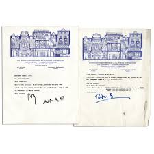 Ray Bradbury Lot Of 2 Typed Letters Signed Contact Georgia Holof