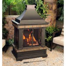 Sunjoy Amherst 35 In. Wood-Burning Outdoor Fireplace-L-OF082PST-3 ... Awesome Outdoor Fireplace Ideas Photos Exteriors Fabulous Backyard Designs Wood Small The Office Decor Tips Design With Outside And Sunjoy Amherst 35 In Woodburning Fireplacelof082pst3 Diy For Back Yard Exterior Eaging Brick Gas 66 Fire Pit And Network Blog Made Diy Well Pictures Partying On Bedroom Covered Patio For Officialkod Pics Cool
