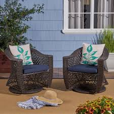 Zayn Outdoor Swivel Wicker Chairs With Cushions, Set Of 2, Multi ... Red Barrel Studio Dierdre Outdoor Wicker Swivel Club Patio Chair Cosco Malmo 4piece Brown Resin Cversation Set With Crosley Fniture St Augustine 3 Piece Seating Hampton Bay Amusing Chairs Cushions Pcs Pe Rattan Cushion Table Garden Steel Outdoor Seat Cushions For Your Riviera 4 Piece Matt4 Jaetees Spring Haven Allweather Amazoncom Festnight Ding Of 2