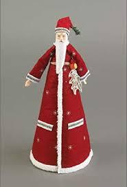 11 Highland Forest Felt Santa Christmas Tree Topper