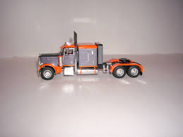Dcp 1 64 Gray And Orange 379 Peterbilt With 63 Flat Top Sleeper ...