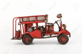 100 Antique Fire Truck Model On White Background Stock Photo Picture