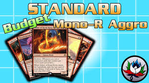 mtg mono red burn budget competitive standard deck tech for
