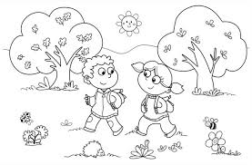 Kindergarten Fall Coloring Pages 17 Peaceful Design Ideas Fun Page For Preschool And 488860 1024x674