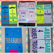 Just Thought I Would Share These Ideas For Posters To Make If You Are Running Student Council Treasurer My Daughter Had Worked Really Hard On And