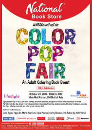 National Book Store In Partnership With Lifestyle Channel And SM Mall Of Asia Will Hold Its First Ever Color Pop Fair On October 24 2015 From 10 Am