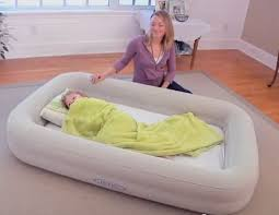 kids travel cot bed inflatable baby child toddler air beds intex