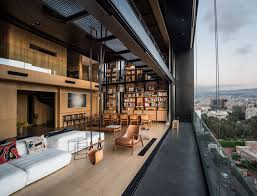 100 Bernard Khoury The Living Area Of An Apartment Overlooking Beirut 1440