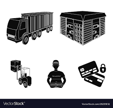 100 Truck Courier Courier For Delivery Of Pizza Forklift Vector Image