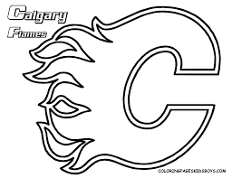 Printable Blackhawks Pumpkin Stencil by Nhl Team Logos Coloring Pages Getcoloringpages Com