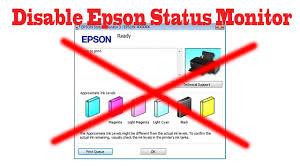 how to disable epson printer status monitor 3 youtube