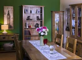 Edinburgh Rustic Oak Flip Top Extending Dining Table GBP 371 In Stock