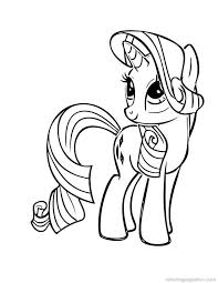 My Little Pony Coloring Pages Rarity 5