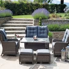 Pacific Lifestyle Charcoal St Kitts 6 Seater Relaxed Dining Set