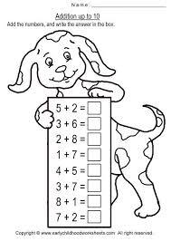 Adding Fun Worksheets Kindergarten Addition For Kids