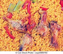 national cuisine of national cuisine a paella with chicken stock image