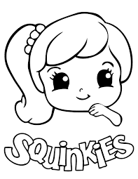 Cute Squinkies Girl Coloring Page