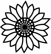 Head Of Sunflower Coloring Page In For