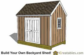 8x12 colonial large door shed plans backyard storage shed plans