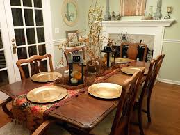Halloween Table Centerpieces Dining Room Completed With Objects Decorations And Copper Plates On The