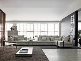 très grand canapé d angle en tissu gris clair canapé