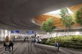 Helsinki Airport to Be Transformed with Undulating Roof and Public
