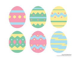 Printable Easter Eggs Egg Templates