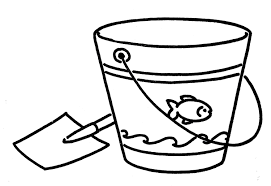 Sand Bucket Clipart Black And White