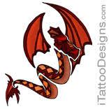 Gothic Dragon Tattoo Designs